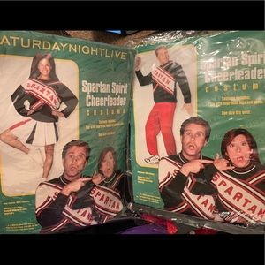 SNL Spartan Cheerleader Costumes Man & woman's Set